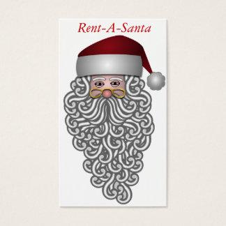 Het Visitekaartje van de Kerstman. Huur Kerstman Visitekaartjes