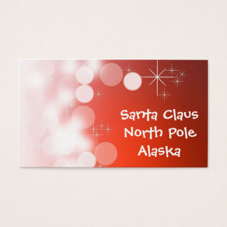 Het Visitekaartje van de Kerstman Visitekaartjes
