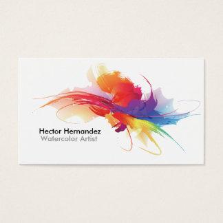 Het visitekaartje van de kunstenaar visitekaartjes
