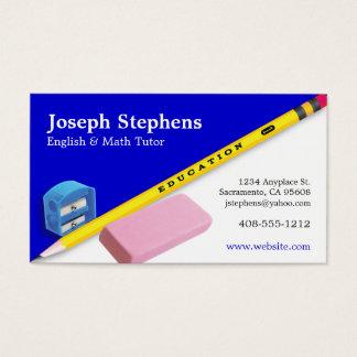 Het Visitekaartje van de leraar, van de Mentor of Visitekaartjes