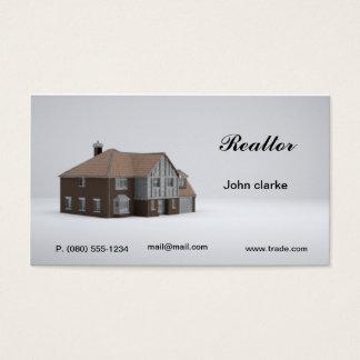 Het visitekaartje van de makelaar in onroerend visitekaartjes