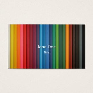 het visitekaartje van de multi-streepkleur visitekaartjes