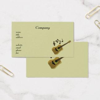 Het Visitekaartje van de Musicus van de gitaar Visitekaartjes