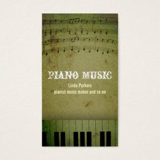 het visitekaartje van de pianomuziek visitekaartjes