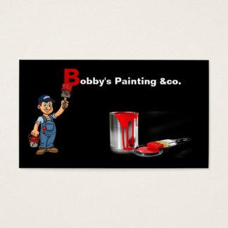 Het visitekaartje van de schilder visitekaartjes