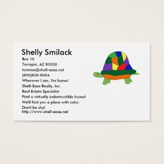 Het visitekaartje van de Schildpad van de Visitekaartjes