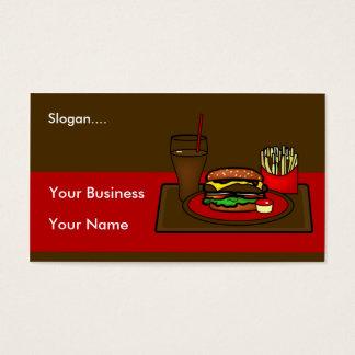 Het Visitekaartje van de Schotel van de hamburger Visitekaartjes