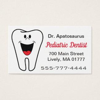 Het visitekaartje van de tandarts visitekaartjes