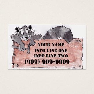 Het Visitekaartje van de Timmerman van de wasbeer