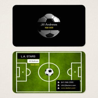 het visitekaartje van de voetbalbus visitekaartjes