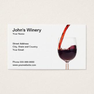 Het Visitekaartje van de wijnmakerij Visitekaartjes