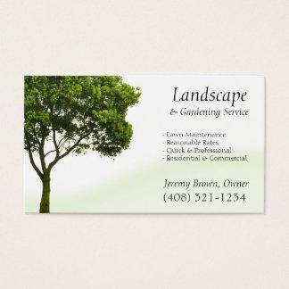 Het visitekaartje van de Zorg van de boom of van Visitekaartjes