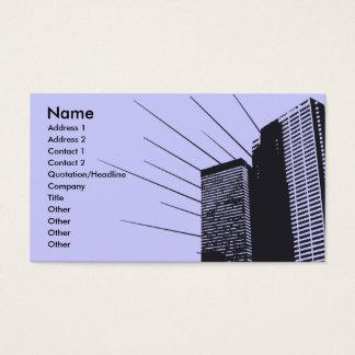 Het Visitekaartje van gebouwen Visitekaartjes