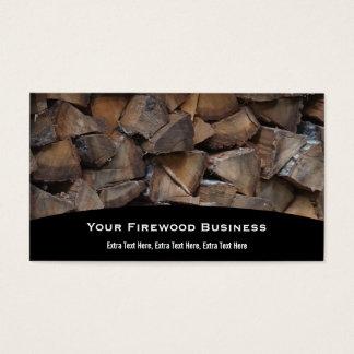 Het Visitekaartje van het brandhout Visitekaartjes