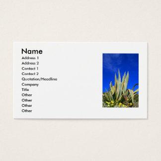 Het Visitekaartje van het Plant van de agave Visitekaartjes