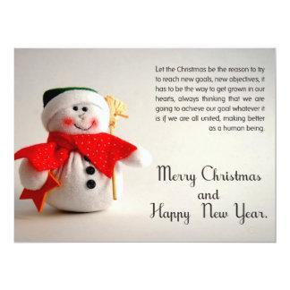 Het Visitekaartje van Kerstmis 16,5x22,2 Uitnodiging Kaart