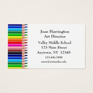 Het Visitekaartje van kleurpotloden Visitekaartjes