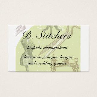 Het visitekaartje van naaisters of van de naaister visitekaartjes