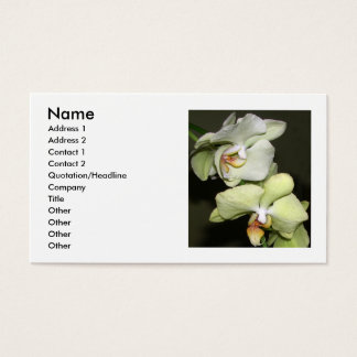 Het Visitekaartje van orchideeën Visitekaartjes