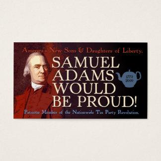Het visitekaartje van Samuel Adams Visitekaartjes