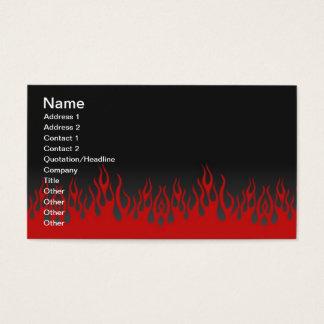 Het Visitekaartje van vlammen Visitekaartjes