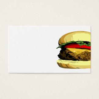 Het visitekaartjesjabloon van de cheeseburger visitekaartjes