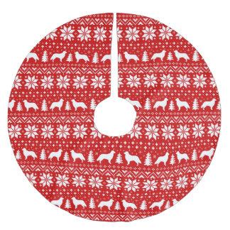 Het vlak Met een laag bedekte Patroon van de Kerstboom Rok