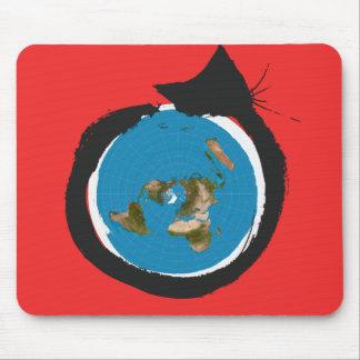 Het vlakke Design van de Aarde - de SCHRIJVER UIT Muismat