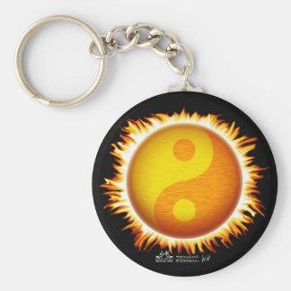 Het vlammende Symbool Keychain van de Zon van Yin  Sleutelhanger