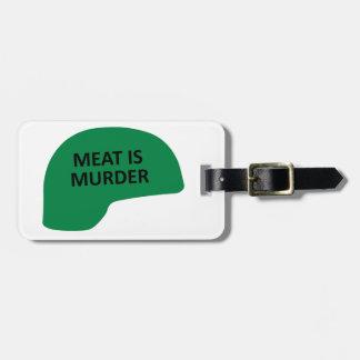 Het vlees is Moord Kofferlabels