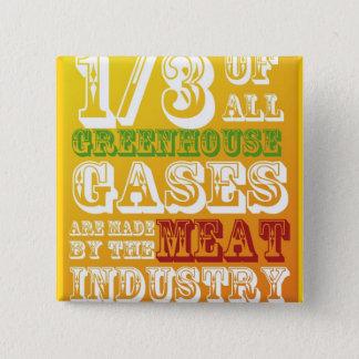 Het Vlees van de aanval! Vierkante Button 5,1 Cm