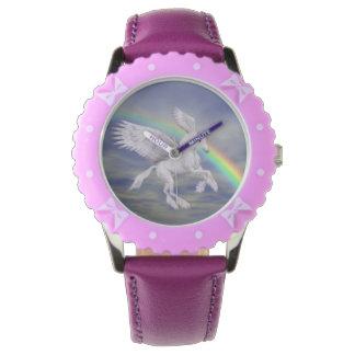 Het vliegen het Dierlijke Art. van de Regenboog Horloges