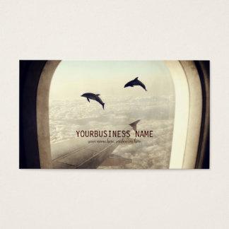 Het vliegen met Dolfijnen Visitekaartjes