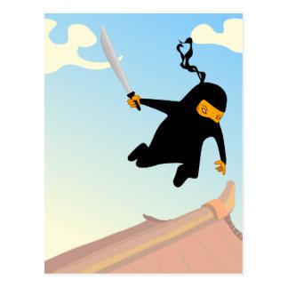 Het vliegen Ninja Briefkaart