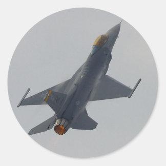 Het Vliegen van de Vliegtuigen van de Motoren van Ronde Sticker