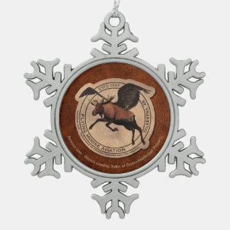 Het vliegende Flard van de Luchtvaart van Tin Sneeuwvlok Ornament