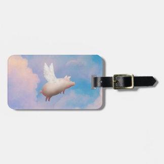 het vliegende label van de varkensbagage bagagelabel
