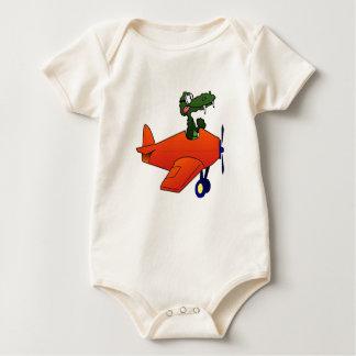 Het Vliegende Vliegtuig van Gator Baby Shirt