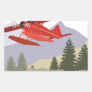 Het Vliegtuig van Alaska Rechthoekvormige Stickers