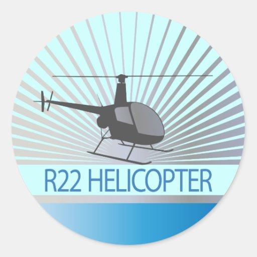 Het Vliegtuig van de helikopter Ronde Stickers