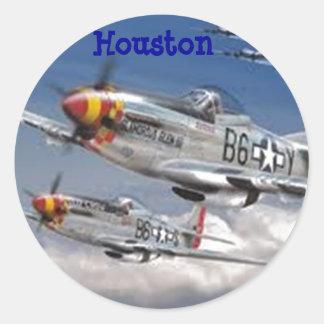 Het Vliegtuig van de mustang Ronde Sticker