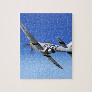Het Vliegtuig van de Vechter van de Mustang van WO Legpuzzel