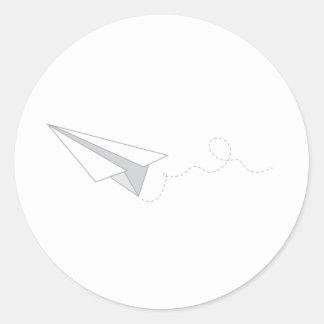 Het Vliegtuig van het document Ronde Stickers