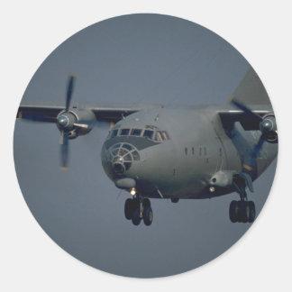 Het vliegtuig van het vervoer, Russische Ronde Sticker