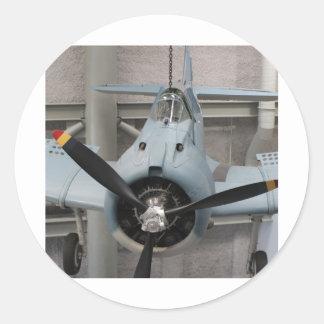Het Vliegtuig van WO.II #3 Ronde Stickers
