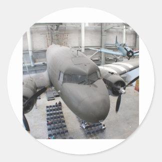 Het Vliegtuig van WO.II Ronde Sticker
