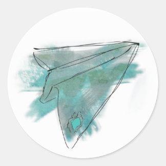 Het vliegtuigsticker van het Document van de Ronde Sticker
