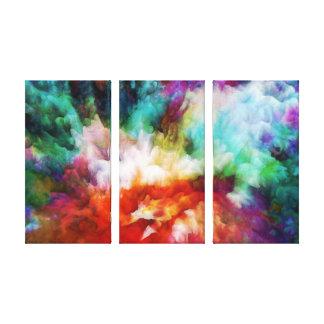Het vloeibare kunstwerk van de kleuren abstracte canvas afdruk