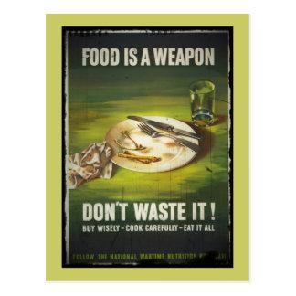 Het voedsel is een Wapen verspilt niet Briefkaart