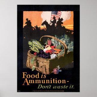 Het voedsel is Munitie! Poster